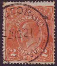 """NSW POSTMARK """"MOUNT GEORGE"""" ON 2d ORANGE KGV DATED 1921 (A8105)"""