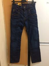 G Star Raw Men's Blue Tapered Fit Denim Jeans Size W26 L32