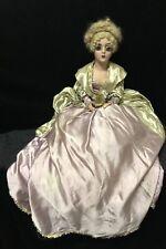 Vintage 43� Boudoir Doll Composition Painted Face Victorian Dress Creepy Art Dec