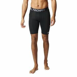 Adidas Men's Techfit Base Layer Short, Black