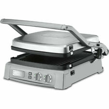 Cuisinart GR-150 Griddler Deluxe Panini Press Grill Brushed Stainless-nonstick