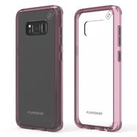 PureGear Slim Shell Pro Series Hybrid Case for Samsung S8 - Clear/Pink NEW