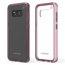 PureGear Slim Shell Pro Series Hybrid Case for Samsung S7 edge - Clear/Pink NEW
