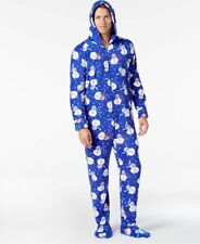 66a65193a6ad Polyester Sleepwear   Robes for Men Footed Pajamas