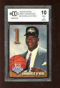 1992-93 Hoops #A Shaqille O'Neal RC BCCG 10 Rookie RC