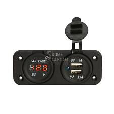 Phone USB Charger Socket Voltmeter For Honda GL Goldwing 1100 1200 1500 1800 500