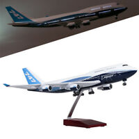 1/150 Boeing 747-400 B747 Airlines Airplane Model 47cm W/ LED Light & Stand Gift