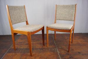 Teak Chair Vintage Danish Modern 60er mid-Century Dining Room Chair 60s 1/2