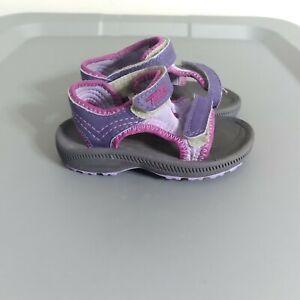 Teva Psyclone 2 Toddler Size 4 Slip On Shoes Black/Purple/Magenta Girls Sandals