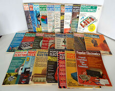 Vintage Popular Electronics Magazine Collection 25 Piece Estate Lot 1960-1971