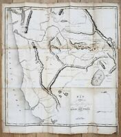1837 Territory West of the Rocky Mountains Map Bonneville ORIGINAL EXRARE