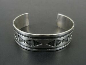 Bracelet Silver Native American Design Sterling Silver 925 Cuff BRACELET