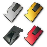 Men RFID Blocking Slim Money Clip Wallet Credit Card ID Holder Thin Minimalist