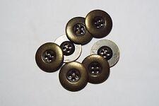 8pc 20mm DARK Antico Bronzo in Metallo Camicia Blazer Cappotto Cardigan Kid pulsante 2787
