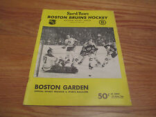 Boston Garden October 15, 1969 BRUINS Program vs OAKLAND SEALS BOBBY ORR