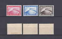GERMAN REICH 1928 Zeppelin Mint * C35-C37 (Mi.423-4/455)