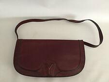 Yoren boutique vintage sac en cuir 60er 70er ans rouge bordeaux