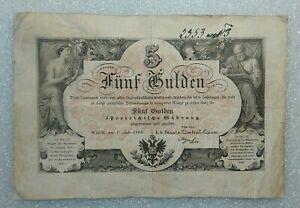 5 Gulden Austria 1866 VF
