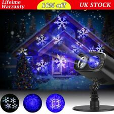 9 w Outdoor Garden Laser Landscape Waterproof LED Light Projector Snow Flower UK