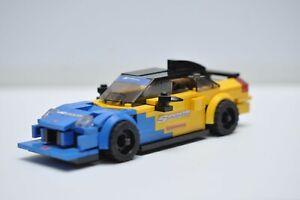 LEGO Acura Honda NSX Yellow and Blue Spoon Sports Custom Built Model JDM C32