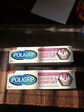2 x Poligrip Cushion & Comfort Denture Fixative 40g *NEW*