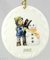 Goebel Berta Hummel Christmas porcelain snowman ornament 2002