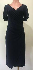 Leina Broughton (Leina & Fleur) NWOT Navy Wrap Dress Size 8