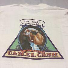 Vintage Joe Cool Camel Cash Cigarette White XL Pocket T-shirt Band Cartoon Biker