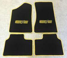 Autoteppich Fußmatten für Opel Manta B Coupe  CC GT/E schwarz gelb Neu 4teilig