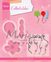 """Marianne Design Collectables Dies With Stamps Set Balloons, COL1378 Up To 2.1/8"""""""