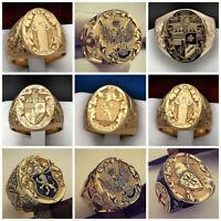 Herrenring 18K Gold Ring Dichtring Gothic Herren Männer Punk Band Ringe Neu