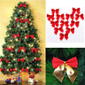 Christmas Tree Bows Ornaments Xmas Bow Knot Festival Party Garden Decor-WI