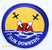 VF-111 SUNDOWNERS HAT PATCH US NAVY USS CAG PIN NAS F4 F8 F11F-1 F9F-2 F6F F14