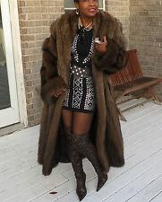Mint full length Swing Designer Blaustein Fisher Sable Fur Coat Stroller M-L8-16