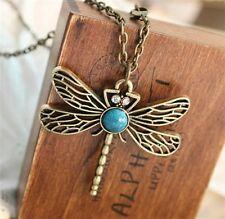 Cute retro hollow dragonfly alloy necklace  present