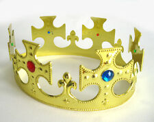 Royal Crown King or Queen Gold Jewels Adult Halloween Medieval Costume Hat