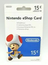Carte Nintendo eShop 15€ pour Compte FR & EU Switch / Wii U / 3DS