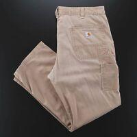 Vintage CARHARTT  Beige Denim Relaxed Straight Jeans Mens W38 L30