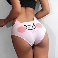 Cotton Women Cute Briefs Underwear Cartoon Printing Shorts  Pink Panties