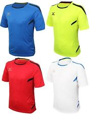 Mizuno Men GAME S/S T-Shirts Jersey Training White Lime Red Top Shirt P2MA601501