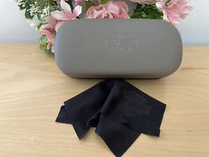 Harley Davidson Hard Shell Glasses Sunglasses Case with Cleaning Cloth Khaki Blk