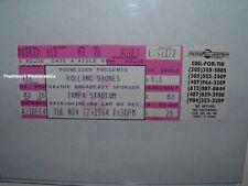 ROLLING STONES 1994 Unused Concert Ticket TAMPA STADIUM Florida VOODOO LOUNGE