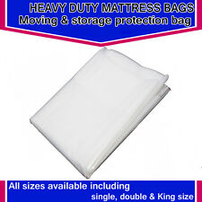 HEAVY DUTY REMOVAL MOVING MATTRESS POLYTHENE COVER BAG 3ft Single Mattres Bag