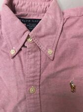 Polo Ralph Lauren Slim Fit Long-Sleeve Oxford Shirt Pink Size 2