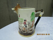 Vintage Beer Stein English Fox & Hound Hunting~Fox Handle & Spout