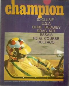 CHAMPION 20 1967 ESSAI R8 GORDINI 1300 & R8 G KIT DUNE BUGGIES BULTACO 250 RACIN