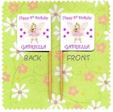 20 Fata Principessa Personalizzata Cup Cake Bandiera Festa Di Compleanno Cibo PICK Coprimaterasso