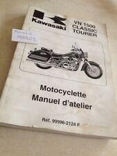 Kawasaki VN1500 G1 H1 VN 1500 classic Tourer VN-15 workshop manual éd.98