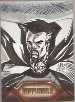 Marvel Comics IRON MAN 2 Sketch Card Mark PROFESONE Henry DR DOCTOR STRANGE 2010