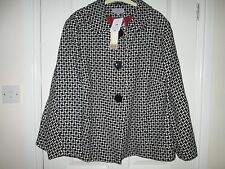 Marks and Spencer Women's Wool Check Button Coats & Jackets